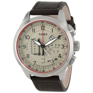 Timex Adventure Series Leather Chronograph Mens Watch T2P275
