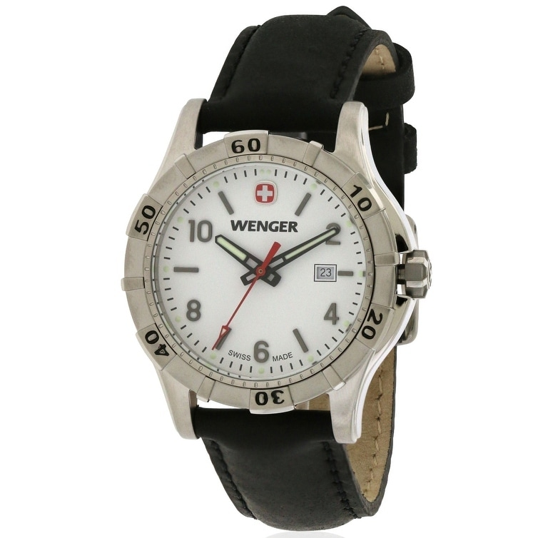 Wenger Platoon Leather Ladies Watch 0921.102, White, Size...
