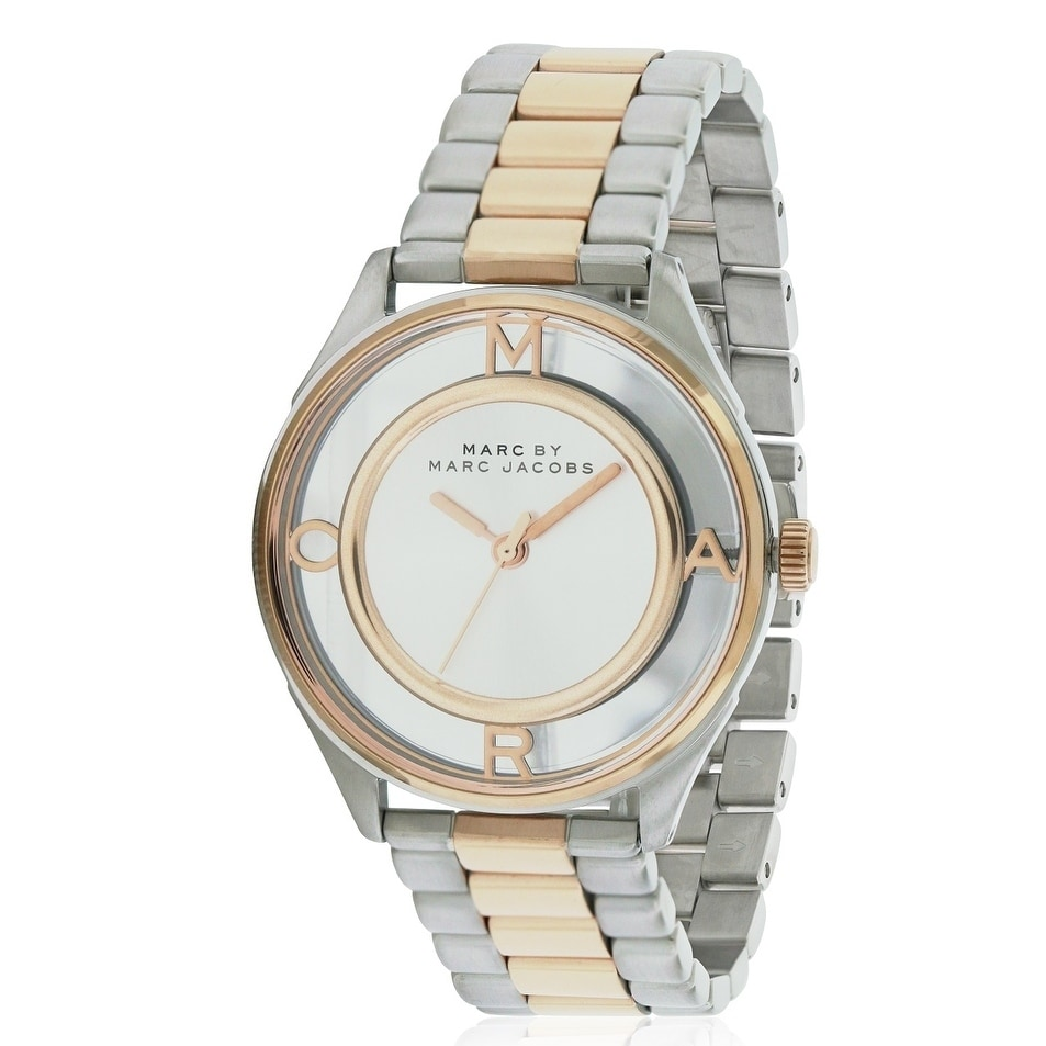 Marc Jacobs Tether Ladies Watch MBM3436, Two-Tone, Size O...