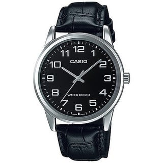 Casio Leather Mens Watch MTPV001L-1B