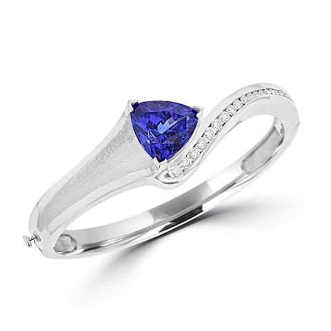 La Vita Vital 14K WG Tanzanite 11.00cts & Diamond 0.85cts Bangle