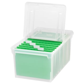 IRIS Letter Size File Box Storage, 5 Pack, Clear