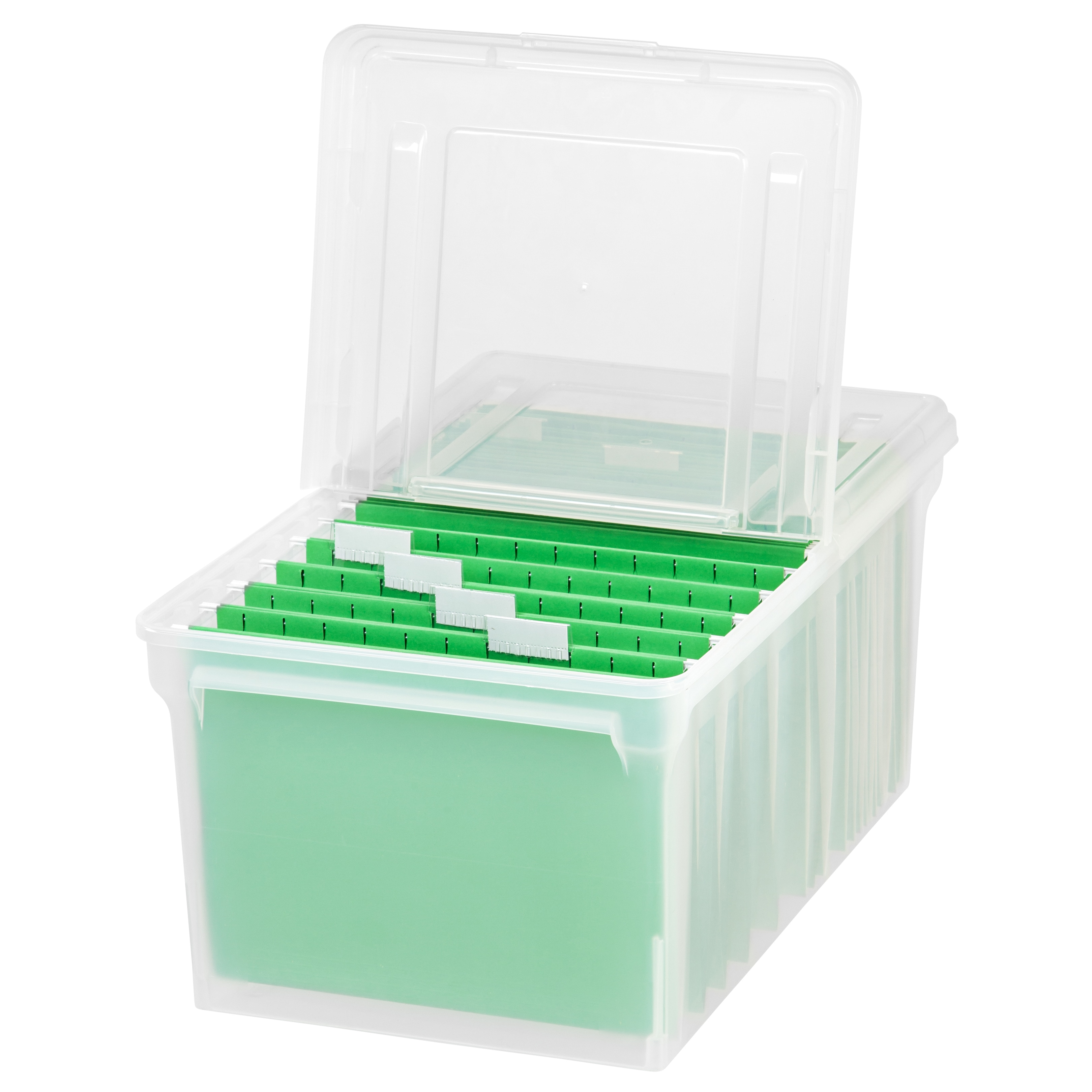Details about IRIS Letter Size File Box Storage, 5 Pack, Clear Clear Letter