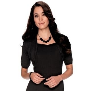 Twin Hill Womens Shrug Black Rayon/Nylon|https://ak1.ostkcdn.com/images/products/17804564/P23998787.jpg?impolicy=medium