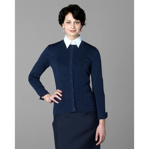 Twin Hill Womens Sweater Navy Heather Super Soft