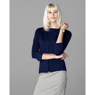 Twin Hill Womens Sweater Navy Heather Super Soft|https://ak1.ostkcdn.com/images/products/17804572/P23998791.jpg?impolicy=medium