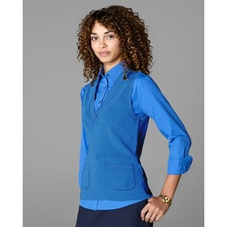 Twin Hill Womens Sweater Vest Cobalt Rayon/Nylon V-Neck (More options available)