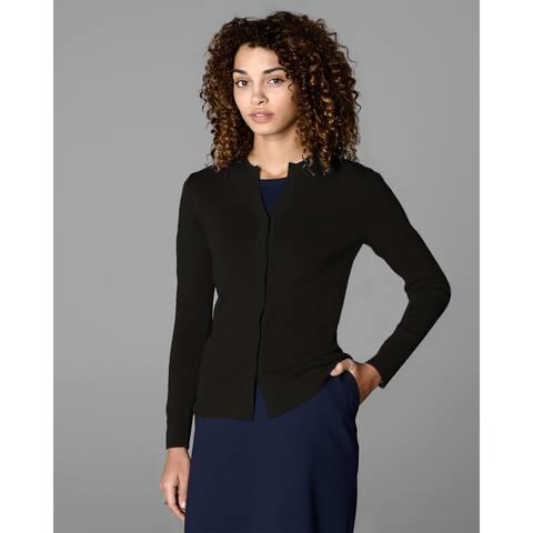 Twin Hill Womens Sweater Chocolate Rayon/Nylon Jewel Neck