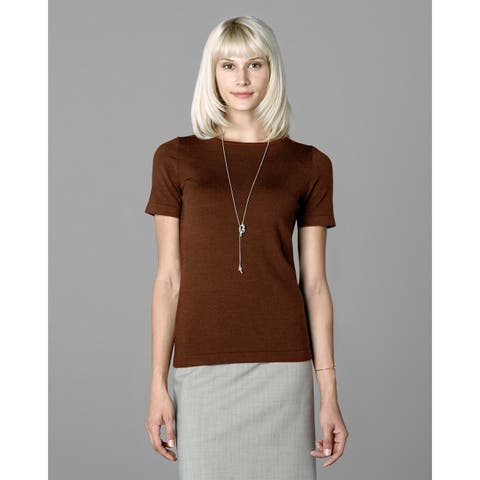 Twin Hill Womens Sweater Rust Heather Super Soft