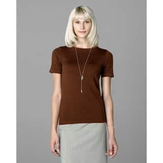 Twin Hill Womens Sweater Rust Heather Super Soft|https://ak1.ostkcdn.com/images/products/17804577/P23998798.jpg?impolicy=medium