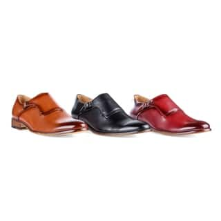Gino Vitale Men's Single Monk Strap Brogue Dress Shoes|https://ak1.ostkcdn.com/images/products/17804601/P23998813.jpg?impolicy=medium