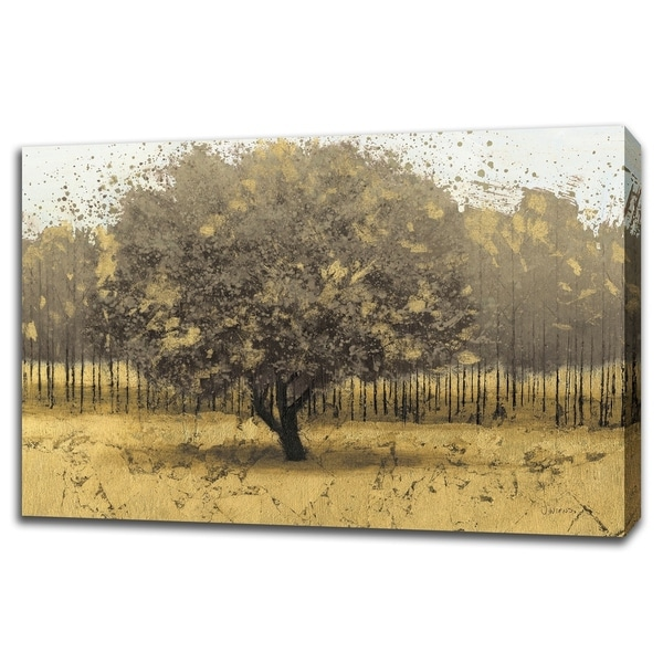 Golden Trees I Taupe By James Wiens, Gallery Wrap Canvas - 45 x 30
