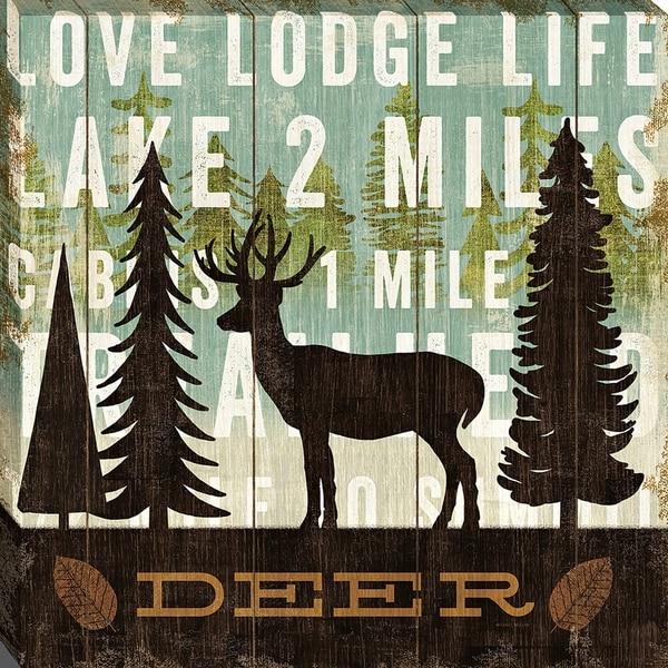 Simple Living Deer By Michaelmullan, Wall Art
