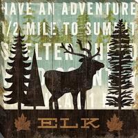 Simple Living Elk By Michaelmullan, Wall Art