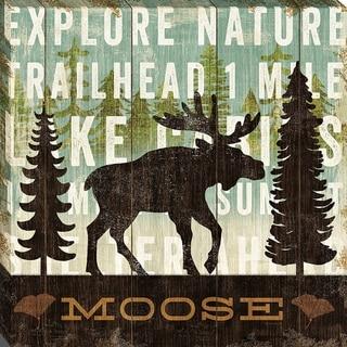 Simple Living Moose By Michael Mullan, Wall Art