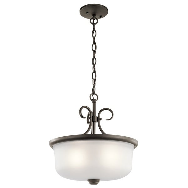 Kichler Lighting Bixler Collection 2-light Olde Bronze Pendant/Semi-Flush Mount
