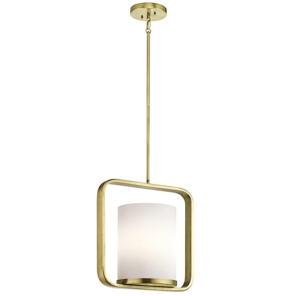 Kichler Lighting City Loft Collection 1-light Natural Brass Pendant