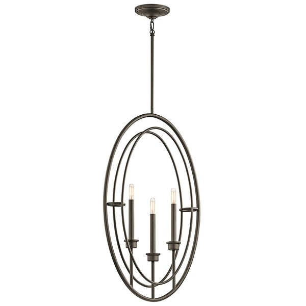 Kichler Lighting Imogen Collection 3-light Olde Bronze Foyer Pendant