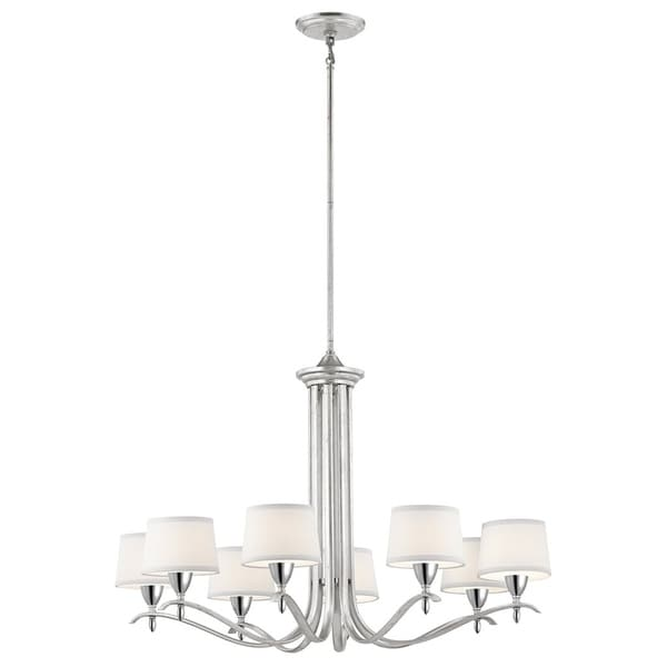 Kichler Lighting Cordova Collection 8-light Silver Leaf Chandelier