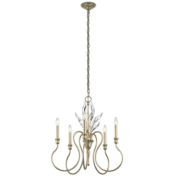 Kichler Lighting Grace Collection 5-light Sterling Gold Chandelier