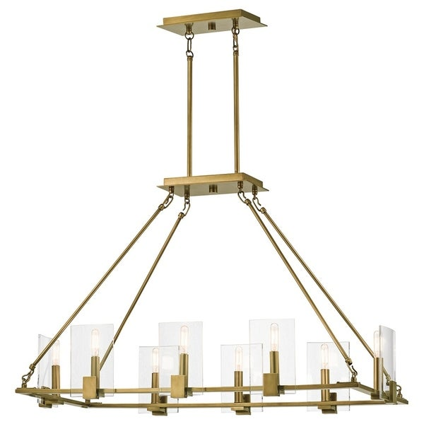 Kichler Lighting Signata Collection 8-light Natural Brass Linear Chandelier