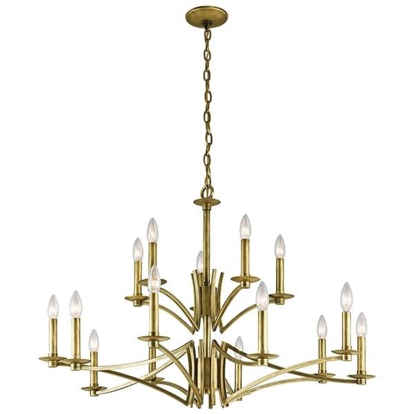 Kichler Lighting Grayson Collection 15-light Natural Brass Chandelier