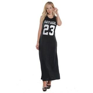 Ladies Stretch Fitted Tank Maxi Dress