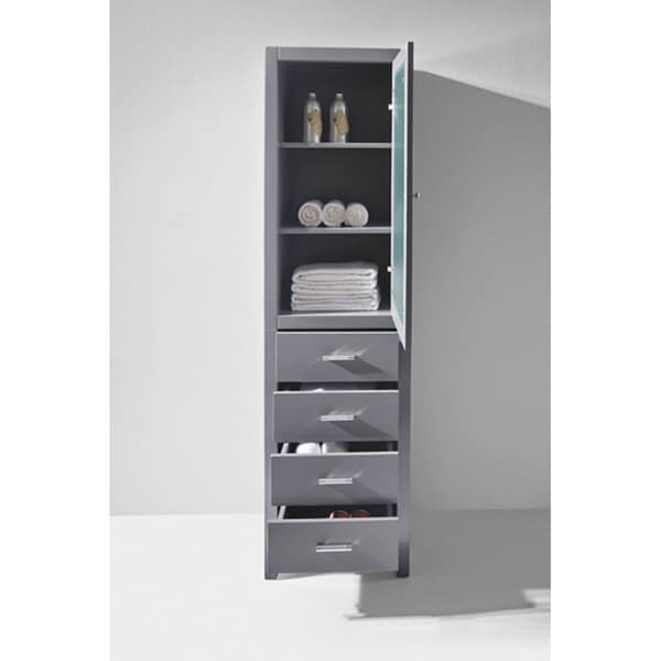 Virtu USA Wellmont 20-inch Linen Cabinet Only - Free Shipping ...