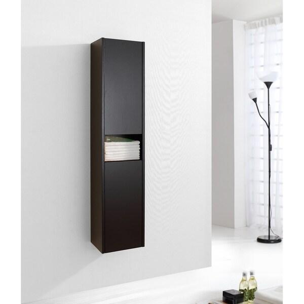 Virtu USA Delmore 12-inch Linen Cabinet Only