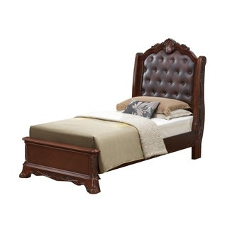 Elora Antique Style Twin Tufted  Bed