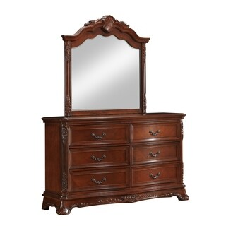Elora Antique Style Dresser and Mirror Set