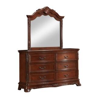 Elora Antique Style Dresser and Mirror Set