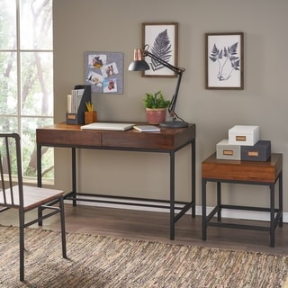 Ebany Industrial Acacia Wood 2-piece Storage Table Set by Christopher Knight Home