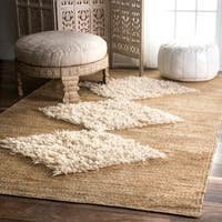 "The Curated Nomad Sinclair Handmade Jute/ Wool Diamond Bleached Area Rug - 8'6"" x 11'6"""