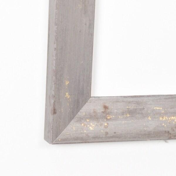 Soft Shimmer 30.5 x 64 - Inch Floor Mirror - dark gray/gold - 30 x 63.5