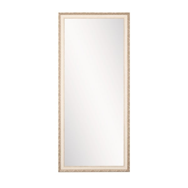 Shop Chic Cream Anitque 32 X 65 5 Inch Floor Mirror