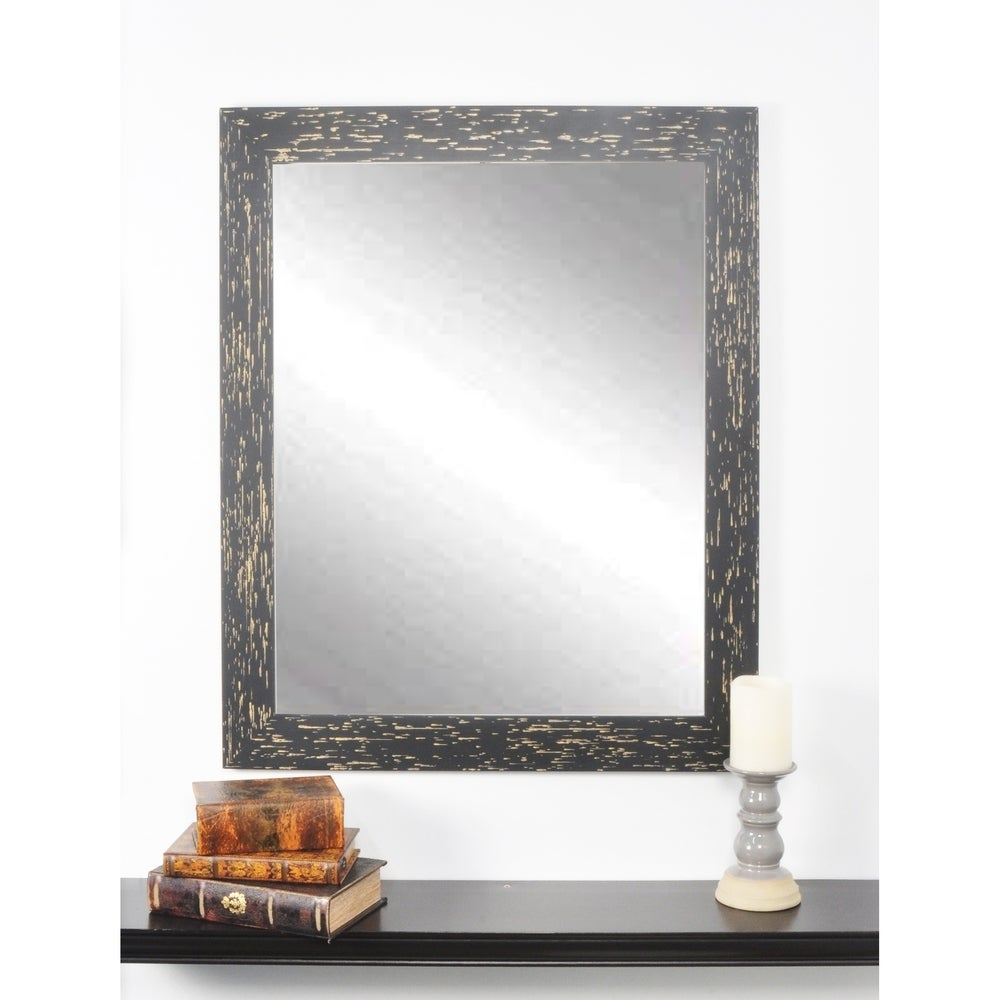 Multi Size Shadow Falls Wall Mirror - Black