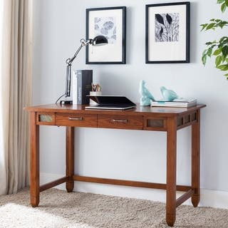 Leick Furniture Rustic Oak and Slate Laptop Desk With Center Drawer|https://ak1.ostkcdn.com/images/products/17804986/P23999131.jpg?impolicy=medium