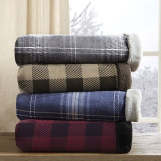 Woolrich Plush Faux Fur Printed Throw 4 Color Option