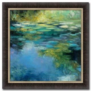 Water Lilies III By Julia Purinton Framed Painting Print, Fine Art Print