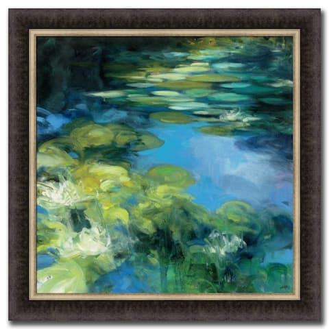Water Lilies II By Julia Purinton Framed Painting Print, Fine Art Print