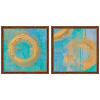 Golden Circles Set Of Two Pictures By Melissa Averinos