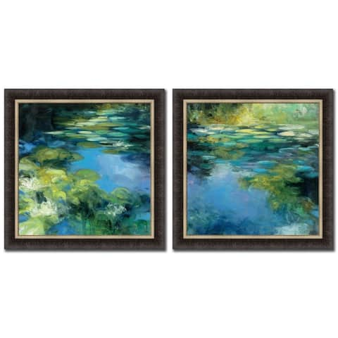 Water Lilies Set Of Two Pictures By Julia Purinton