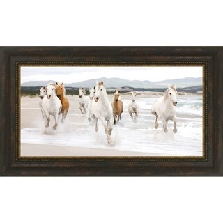 Horses On The Beach By Zero Creative Studio, Wall Art