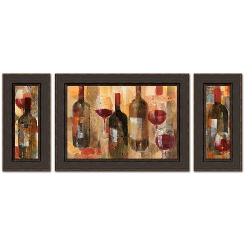Festa - Set Of Three By Albena Hristova Framed Painting Prints