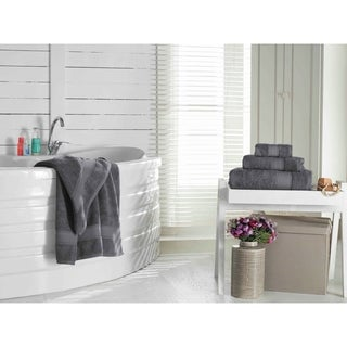 Pinehurst Collection Grund America Certified 100-percent Organic Cotton Grey Towels