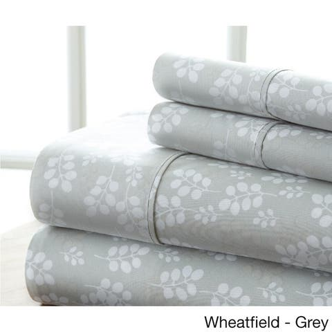 Becky Cameron Premium Ultra Soft Printed 4 Piece Bed Sheets Set
