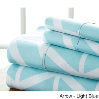 Becky Cameron Ultra Soft Printed 4 Piece Bed Sheet Set (More options available)