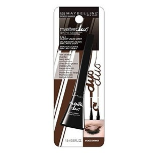 Maybelline Master Duo 2 in 1 Glossy Liquid Liner 525 Bronzed Shimmer (3 options available)