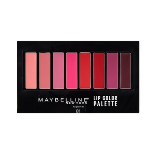 Maybelline New York Lip Color Pallette 8 Shades 01 with Brush Included (3 options available)